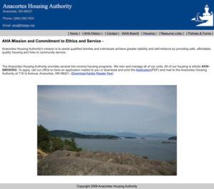 Anacortes Housing Authority- Before Redesign